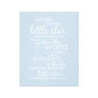 Twinkle Twinkle Little Star Gallery Wrap Canvas