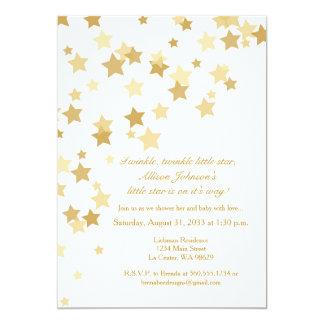 Twinkle Twinkle Little Star Gold Invitation