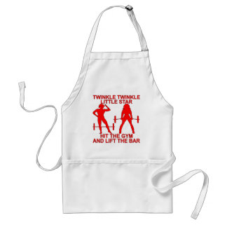 Twinkle Twinkle Little Star Hit The Gym And Lift Standard Apron