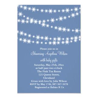"Twinkle Twinkle Little Star Invitation (blue) 5"" X 7"" Invitation Card"