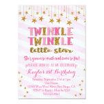 Twinkle Twinkle Little Star Invitation Pink