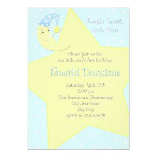 Twinkle Twinkle Little Star Invitation - with Moon