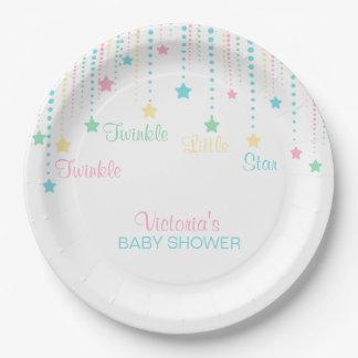 Twinkle Twinkle Little Star Neutral Unisex Party 9 Inch Paper Plate
