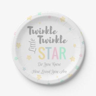 Twinkle Twinkle Little Star - Paper Plates 7 Inch Paper Plate