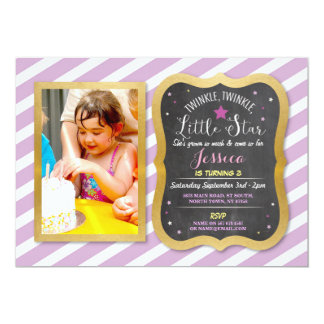 Twinkle Twinkle Little Star Party Photo Invite