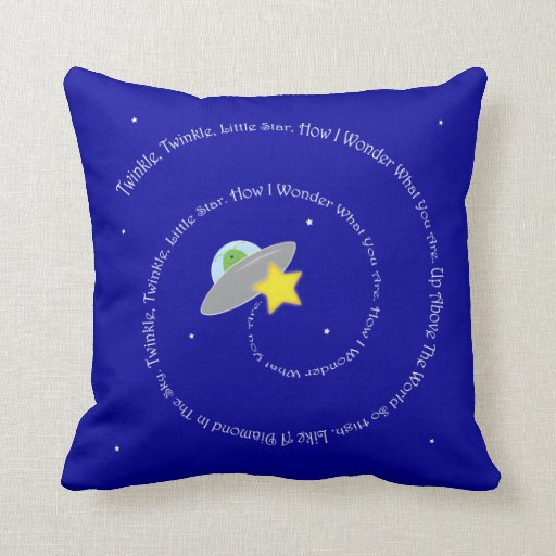 twinkle, twinkle, little star pillow