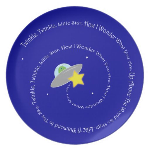 twinkle twinkle little star plate
