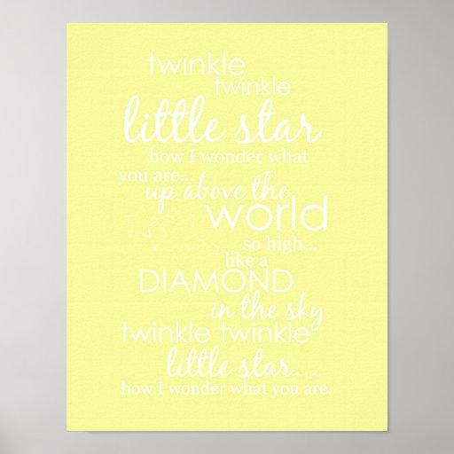 Twinkle Twinkle Little Star Posters