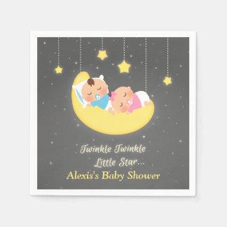 Twinkle Twinkle Little Star Twins Shower Supplies Disposable Serviettes