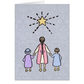 Twinkle, Twinkle Little Star Vintage Nursery Rhyme Greeting Card