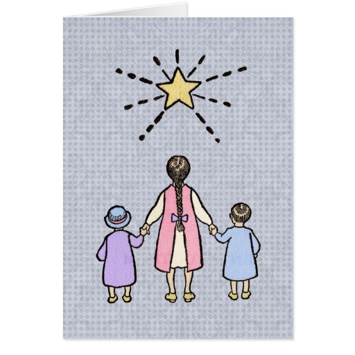 Twinkle, Twinkle Little Star Vintage Nursery Rhyme Greeting Card
