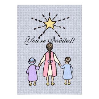 Twinkle, Twinkle Little Star Vintage Nursery Rhyme Invitation