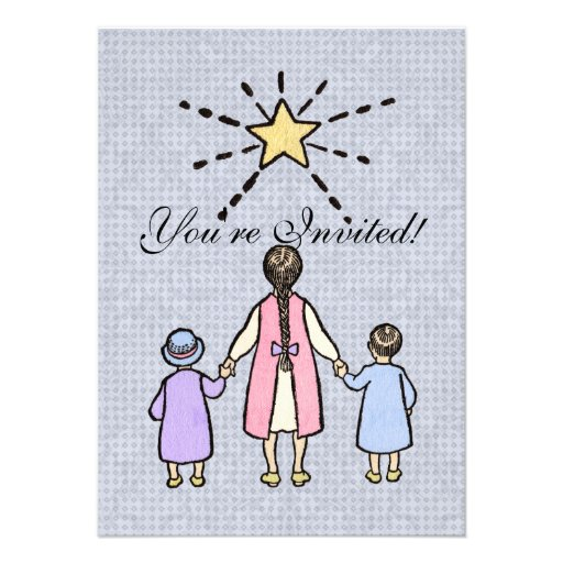 Twinkle, Twinkle Little Star Vintage Nursery Rhyme Invitation