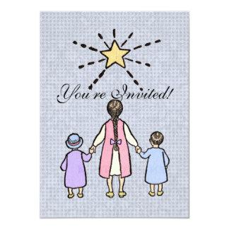 "Twinkle, Twinkle Little Star Vintage Nursery Rhyme 4.5"" X 6.25"" Invitation Card"