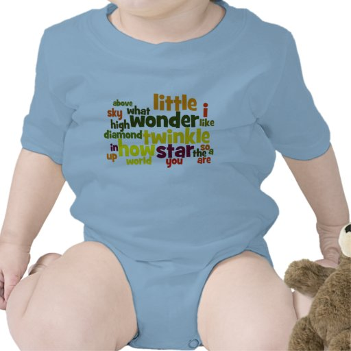 Twinkle Twinkle Little Star wordart infant creeper