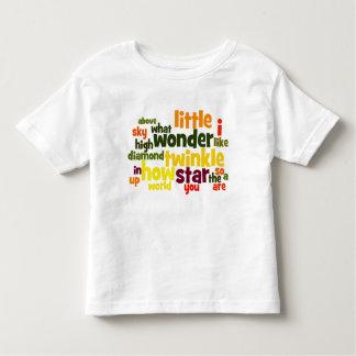 Twinkle Twinkle Little Star wordart toddler tshirt