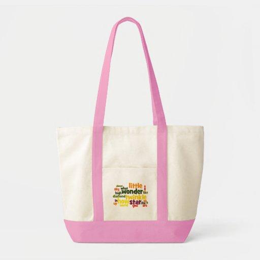 Twinkle, Twinkle Little Star wordart tote bag