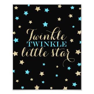 Twinkle Twinkle Little Stars Nursery Print Photograph