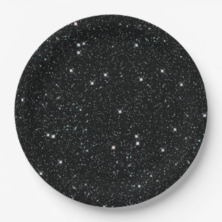 TWINKLE, TWINKLE, LITTLE STARS (outer space) ~ 9 Inch Paper Plate