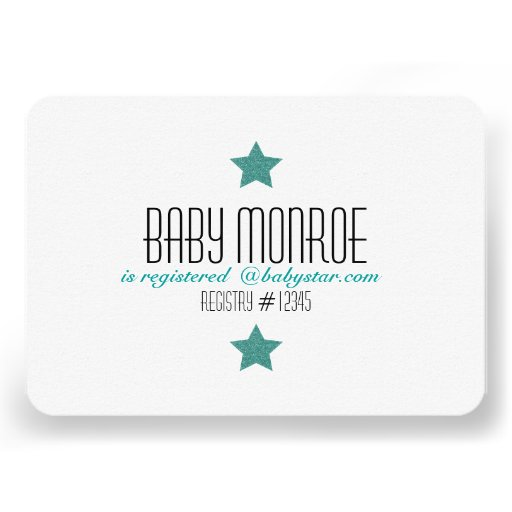 TWINKLE TWINKLE REGISTRY CARD-BABY SHOWER