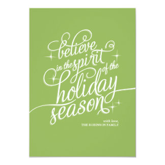 Twinkle Wicked Script Holiday Card 13 Cm X 18 Cm Invitation Card