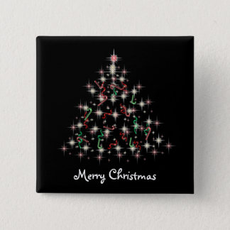 TwinkleTree Candycane and Ribbon 15 Cm Square Badge
