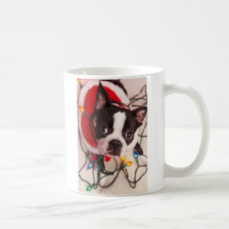 Twinkling Lights Boston Santa Mug