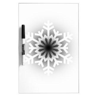 Twinkling White Snowflake Dry Erase Board