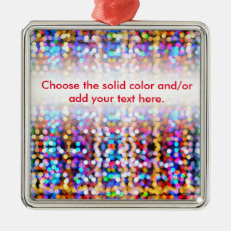 Twinkly Lights Faded Silver-Colored Square Decoration