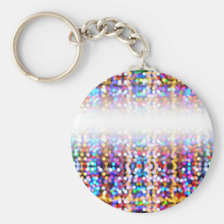 TwinklylightsFaded Basic Round Button Key Ring