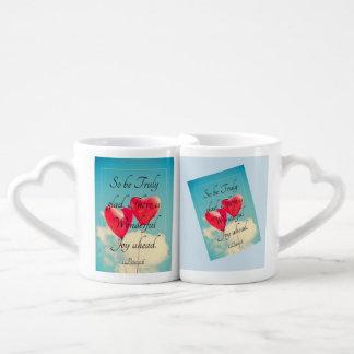 #Twinning Heart Handle 1 Peter 1:6 Mug Set