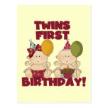 Twins 1st Birthday Boy/Girl T-shirts and Gifts Postcard