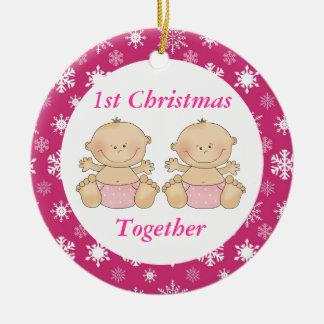 Twins 1st Christmas Together Keepsake Ornament