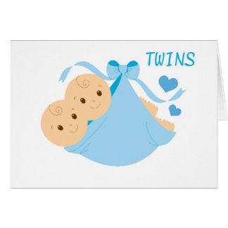 TWINS ARE DOUBLE EVERYTHING-LOVE AND FUN CARD
