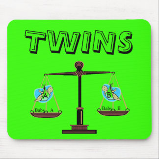 Twins - Baby A & Baby B Mousepad