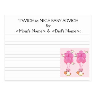 Twins Baby Shower Ideas Postcard