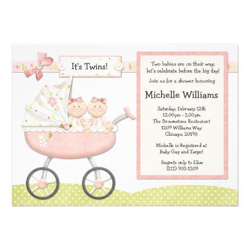 twins baby shower invitation 13 cm x 18 cm invitation card zazzle