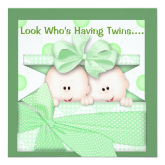 TWINS BABY SHOWER  INVITATION  NEUTRAL