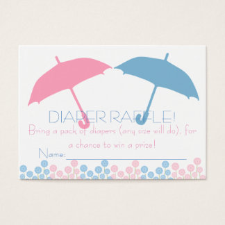 Twins Baby Shower Umbrella Diaper Raffle Tickets