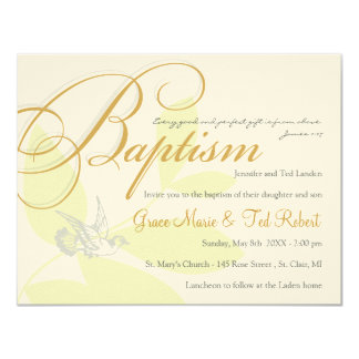 Twins Baptism Invitation