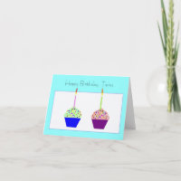 Twins Birthday Cards Invitations Zazzlecomau