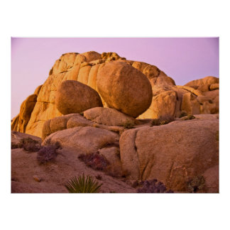 Twins Boulders at Sunset Poster