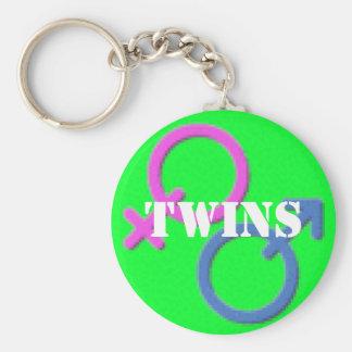 Twins boy girl Gender Symbols keychain