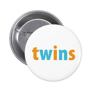 TWINS COLLECTION - boys orange + aqua Buttons