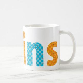TWINS COLLECTION - boys {orange + aqua} Coffee Mug