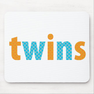 TWINS COLLECTION - boys orange + aqua Mouse Pads