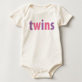 TWINS COLLECTION - girls {violet + pink} Baby Bodysuit