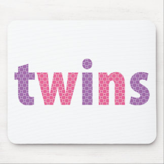 TWINS COLLECTION - girls violet + pink Mouse Pads