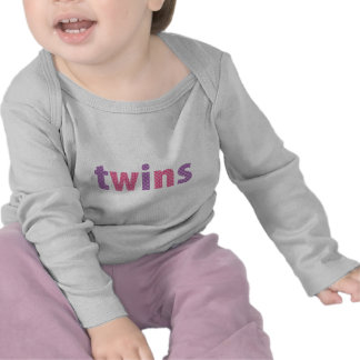 TWINS COLLECTION - girls violet + pink Tee Shirt
