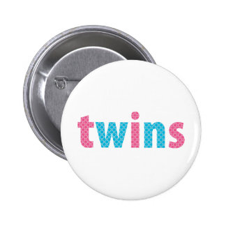 TWINS COLLECTION - mixed aqua + pink Button
